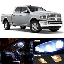 12Pcs Xenon White LED Lights Interior Lamp Package Kit for 2009-2015 RAM 1500 MP