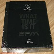 2PM LIVE TOUR DVD: WHAT TIME IS IT 3 DISC + 2 PHOTO BOOK + POSTER IN TUBE NEW