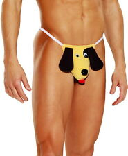 Manly Flappy Ears Dog Underwear Pouch Thong Briefs Panties Lingerie Adult Men