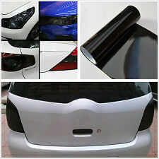 Car SUV Tailight Headlight Gloss Black Tint Vinyl Wrap Film Sheet Cover Sticker