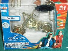 ERTL OCC ORANGE COUNTY CHOPPERS FIRE BIKE GOLD PLATED MODEL KIT 1/18
