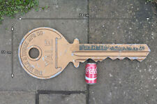old vintage giant metal YALE key - shop advert FREE POSTAGE