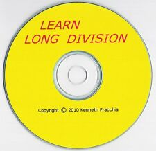 Learn Long Division Educational Math Software CD