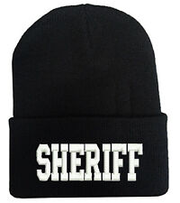 SHERIFF CUFF FOLD UP LONG BEANIE HATS MILITARY LAW ENFORCEMENT