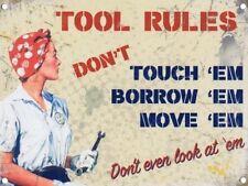 A4 taille outil règles ne touche pas 'em-métal signe plaque man cave atelier 869