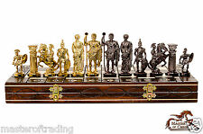 Luxury SPARTAN Wooden Chess Set SENATOR Chessboard 40x40cm & Weighted Pieces !!!