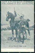 Militari Genova Cavalleria cartolina QT7953
