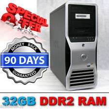Dell Precision 690 Workstation 2x Xeon E5345 de procesadores de 2,33 Ghz 32 Gb Nvidia FX4600 de