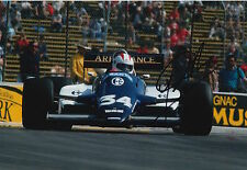 Johnny Cecotto Hand Signed 12x8 Photo Toleman Group F1 6.