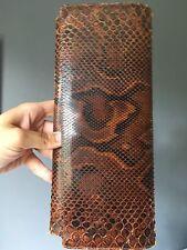 Vintage Piel De Serpiente Clutch Bag condición fantástica