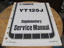 Yamaha YT175J Service Manual 7 chapters
