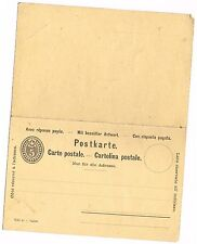 CPA DOUBLE ENTIER POSTAL SUISSE VIERGE