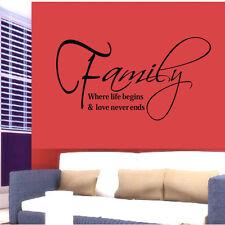 57x30CM Famille Mode Créativité Peler et Bâton Autocollants Muraux Hotest
