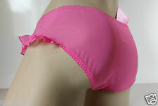 Candy Pink Low Rise Ruffle Cheeky Bikini Brief Panties Knickers XL 16