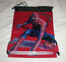 Red Amazing Spider-Man Licensed Drawstring Backpack Boys 3+ Sling Tote Gym Bag