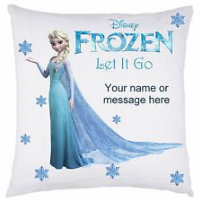 PERSONALISED FROZEN DISNEY CUSHION COVER ELSA ANNA OLAF SVEN CHRISTMAS GIFT