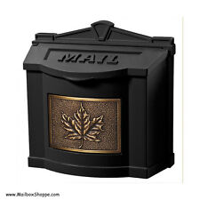 Gaines cast metal Wall Mount Mailbox - Maple Leaf Mail Box with 9 color choices