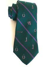 De Colección Polo Ralph Lauren Polo Verde británico icónico ecuestre Motif, 60% lana, 40% Seda