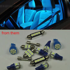 14x Bright Ice Blue LED Lights Interior Package Kit For Honda ACCORD 2013-2014