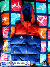 ADIDAS TEAM GB ISSUE -TRAINING FOR RIO IN 2016 - ATHLETE 'PUFFA' HOODED VEST
