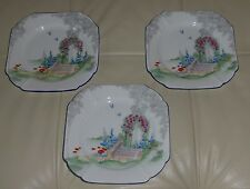 """SHELLEY QUEEN ANNE ARCHWAY OF ROSES DESSERT PLATES 6.5"""""""