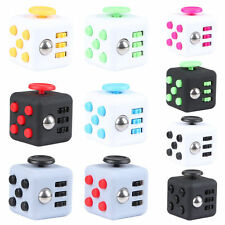 Fidget Cube Desk Toy Stress Anxiety Relief Focus Puzzle Adult Children 6 Side