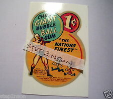 Giant Gum Ball Gumball Machine Waterslide Decal + No Slugs 1 Cent Vintage Hart