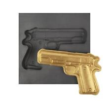 Large Gun 3D Graphite Ingot Mold Silver Gold Copper Aluminum Tin Metal Casting