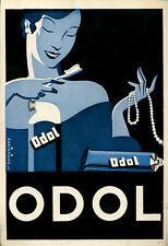 PUBBLICITA' ORIGINALE ADVERTISING ODOL BAKISFIGUS ANNI 30