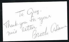 Brooke Adams signed autograph auto 3x5 index card Hollywood Actress