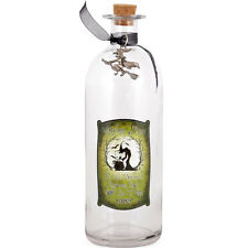 NEW GLASS WITCHES SPELL BOTTLE /WICCA /HALLOWEEN/WITH SILVER WITCH CHARM