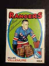 1971 Topps #18 Gilles Villemure Signed Autographed Card Rangers  with COA
