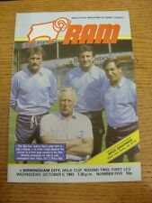 05/10/1983 Derby County v Birmingham City [Football League Cup] . Thanks for vie