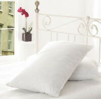 LUXURIOUS **90% Hungarian White Goose Feather and 10% Down Pillow Pair**