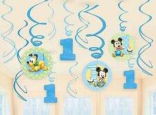 Baby Mickey Mouse 1st Swirl Decorations For Birthday Party Supplies Favor Pack