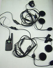 MOTORCYCLE/BIKER HELMET INTERCOM KIT,COMES WITH HEADSETS & A SLIM PMR446 RADIO