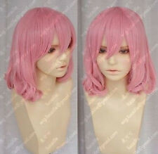 Hot Sell! New Short pink Fashion Cosplay Party Curly Wigs +gift