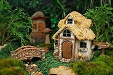 NEW WOODLAND FAIRY GARDEN HOUSE THE COTSWOLD THATCHED COUNTRY FAIRY COTTAGE
