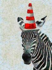 ABSTRACT PAINTING ZEBRA TRAFFIC CONE FUNNY COOL POSTER ART PRINT PICTURE BB238A