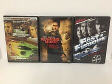 Lot Of 3 Paul Walker DVDs Running Scared, The Fast And The Furious Free Shipping