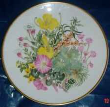 Caverswall Spink Ltd Edition Collector Plate WILDFLOWERS - CLIFF AND SEASHORE