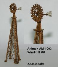 Animek Z Scale Country Windmill Laser-Cut Wood Kit *NEW $0 Shipping
