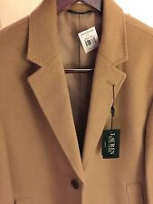 Ralph Lauren Coat Overcoat Camel Beige Size  XL Wool Blend Men's NWT! $400+