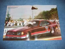 1984 Gary Southern Funny Car Magazine Center Spread Poster Blower Explosion