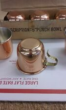 COPPER PUNCH BOWL CUPS