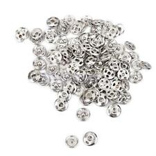 50x Metal Buttons Snap Fastener Press Stud Popper Sew On Sewing Fabric 8mm