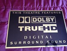 Dolby True HD Audio Home Cinema Sign