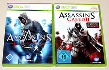 ASSASSIN'S CREED 1 & 2 - XBOX 360 - 100% UNCUT - I II ASSASSINS