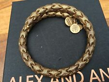 ALEX and ANI VINTAGE 66 Russian GOLD DECO MEDINA Beaded Wrap BRACELET