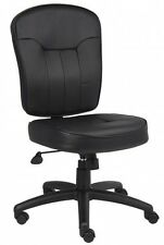 POKER CHAIR / Dealer Chair IN BLACK LEATHERPLUS Boss B1560 NO ARMS